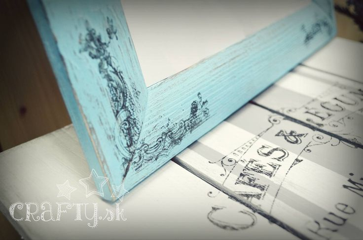 DIY idea Shabby Chic chalky panit transfering frame and chair