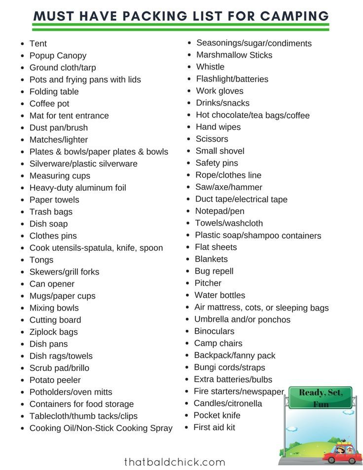 2057 Best Camping Checklist Images On Pinterest