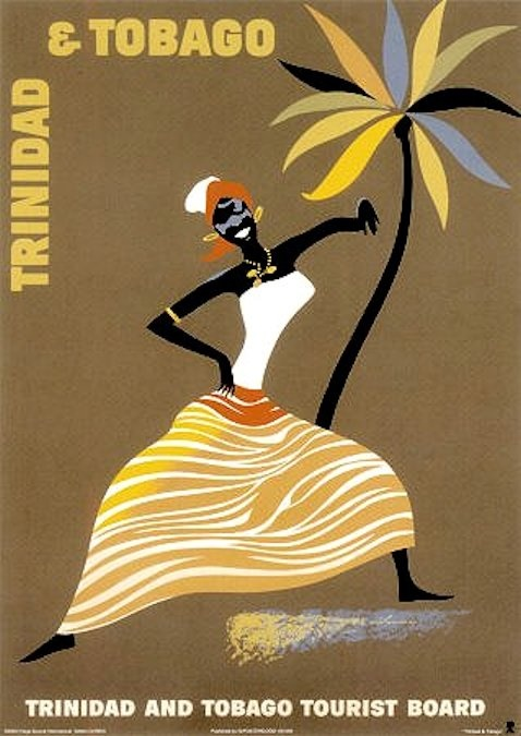 #Trinidad and Tobago Tourist Board - vintage travel poster  # We cover the world over 220 countries, 26 languages and 120 currencies Hotel and Flight deals.guarantee the best price multicityworldtravel.com