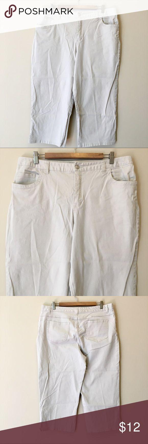 Cherokee Ivory Khaki Capris Ivory khaki capri pants by Cherokee brand.  Size 16.  Excellent condition! Cherokee Pants Capris