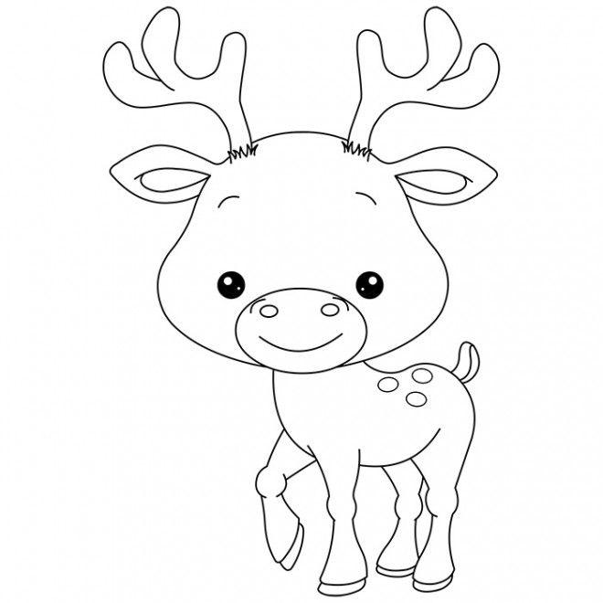 Dessin Caribou Recherche Google Coloriage Animaux Dessin Renne Coloriage Bebe