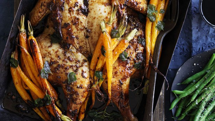 Neil Perry's thyme, oregano and citrus chicken. The marinade also works well with a butterflied leg of lamb on the barbecue. Serve with a fresh cucumber and mint salsa.