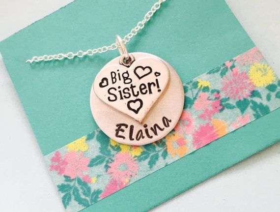 Big Sister Necklace Big Sister Gift by UniquelyImprint on Etsy