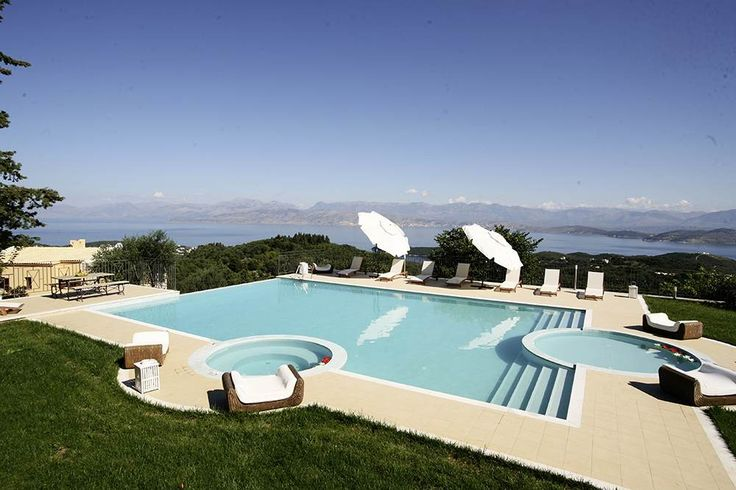 Anilia, St Stephano - Sleeps up to 12. At this large and luxurious villa in Corfu, the views from the exceptional swimming pool are breathtaking, leisure facilities are outstanding, and standards of comfort are consistently high