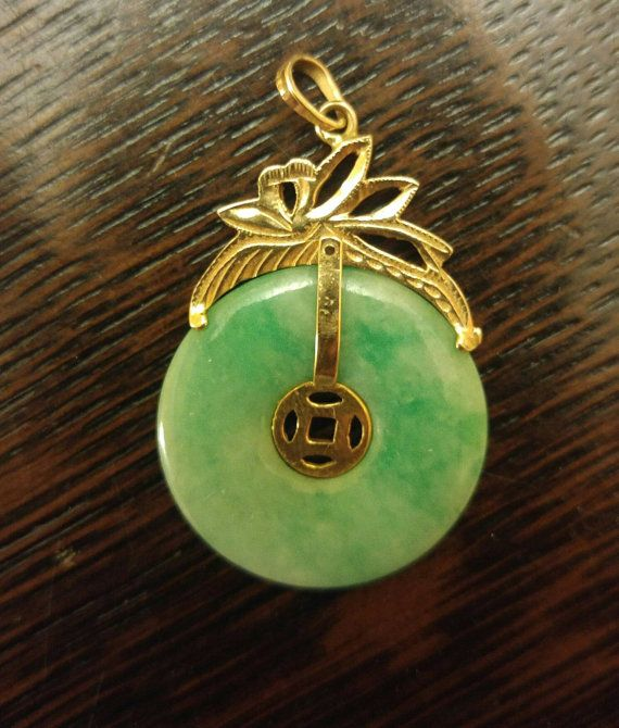 Hey, I found this really awesome Etsy listing at https://www.etsy.com/ca/listing/449045844/pretty-green-jade-14kt-gold-pendant