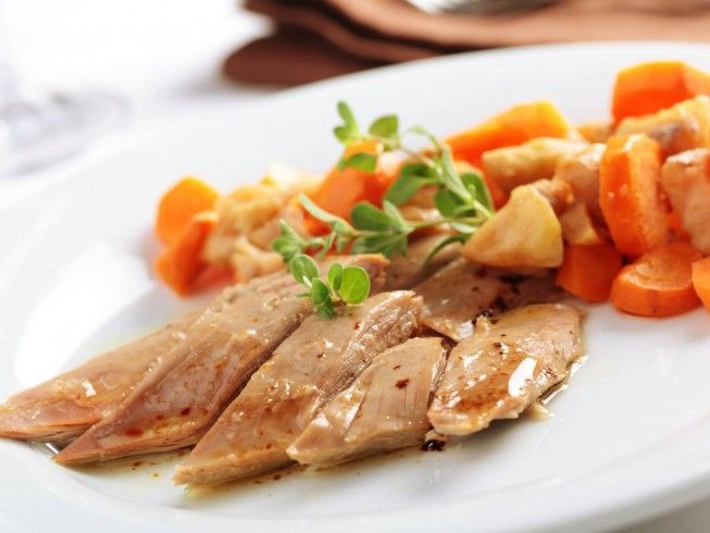 A recipe for Wild Duck Breast L'Orange made in the crock pot made with whole wild duck breasts, salt, black pepper, oranges, apple, onion, frozen orange juice