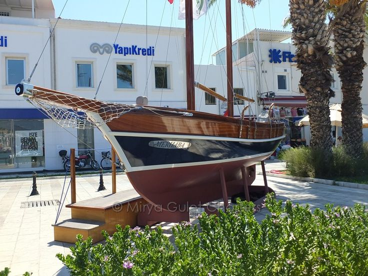 #symbolic #gulet #turkish #bluecruise #luxuryholidays in #bodrum #turkey named #merhaba at the harbour. ever see it?