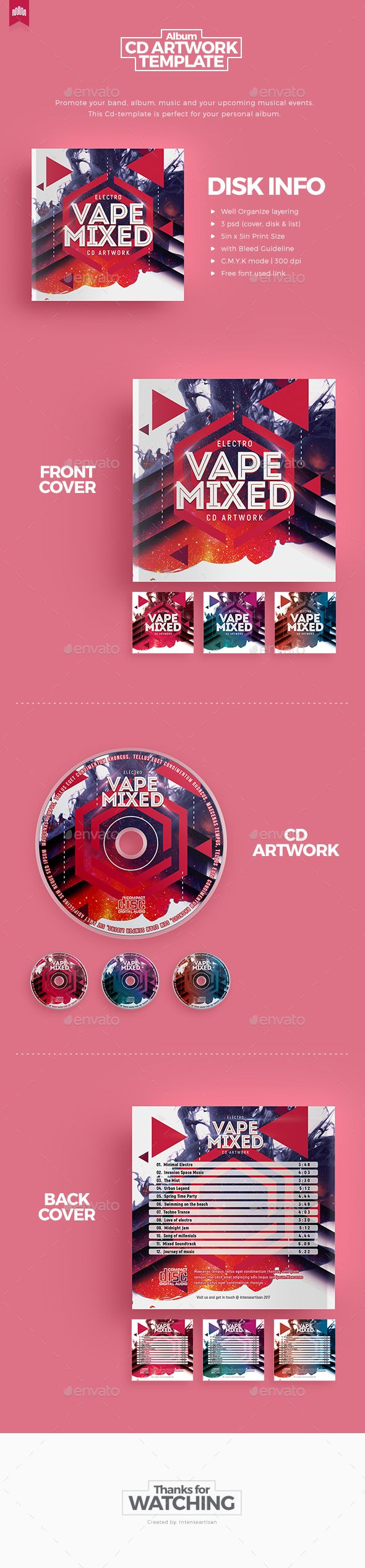Vape Mixed - Cd Artwork - #CD & #DVD Artwork Print Templates Download here:  https://graphicriver.net/item/vape-mixed-cd-artwork/20308812?ref=alena994
