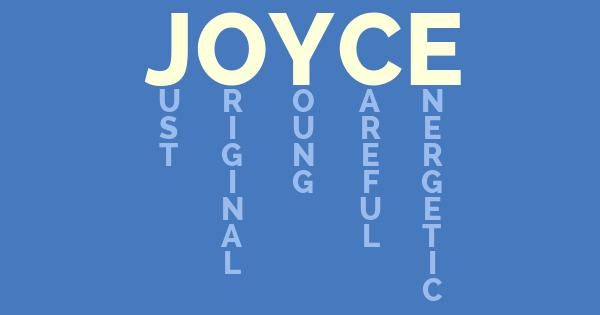 Joyce! What Does My Name Mean?