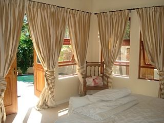 The main bedroom is sure to inspire the romantic in the most hardened pragmatist.