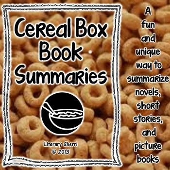 119 best Book Reports images on Pinterest Book projects, Book - sample cereal box book report template