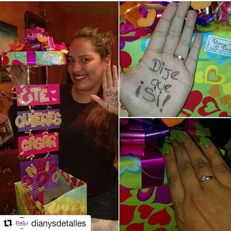 @dianysdetalles @dianysdetalles Y le dijo que SI!!! Gracias por hacernos partícipes de este momento - detalles_queenamoran