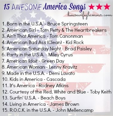 Awesome Playlist for Patriotic Holidays. #MemorialDay #July4 #USA