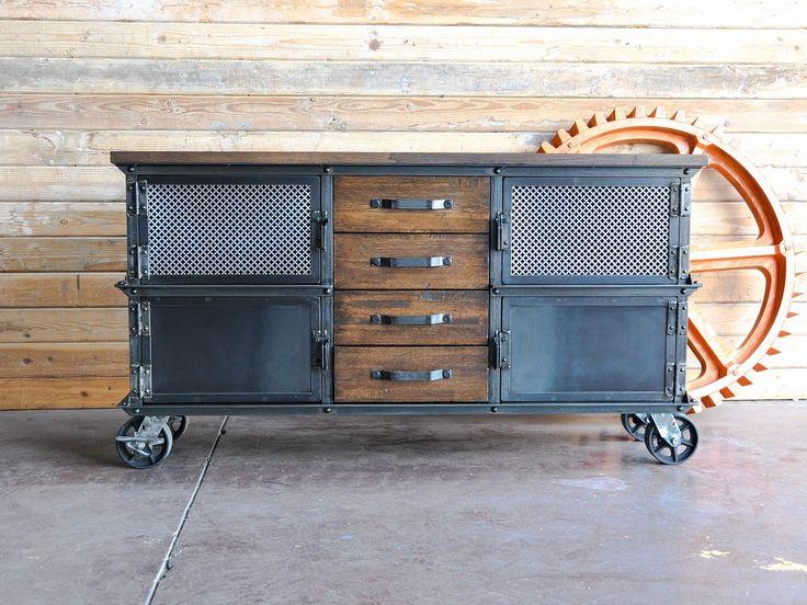 Large Ellis Console. Vintage Industrial FurnitureIndustrial ...