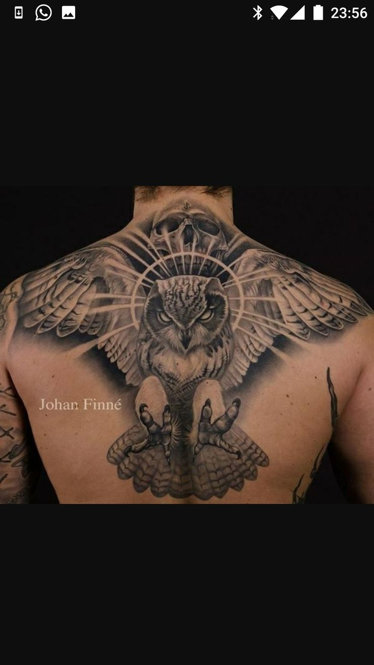 Iron eagle tattoo 25 brilliant cross tattoos for men - 35 Attractive Owl Tattoo Ideas For Creative Juice