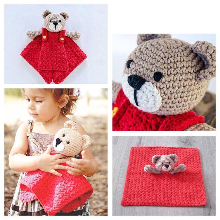 http://www.ravelry.com/patterns/library/teddy-bear-lovey-security-blanket