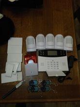 Tienda Online NUEVA antena Incorporada Puerta Del Sensor de PIR Detector de Movimiento Inalámbrico LCD tarjeta SIM GSM Casa de seguridad del sistema de Alarma de Humo de Flash sirena   Aliexpress móvil