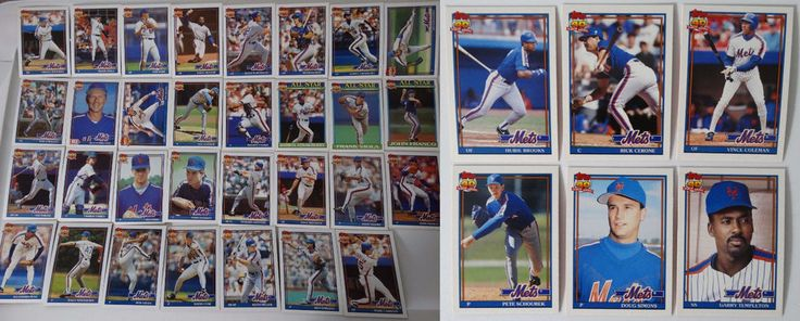 1991 Topps New York Mets Team Set of 37 Baseball Cards With Traded #topps #NewYorkMets