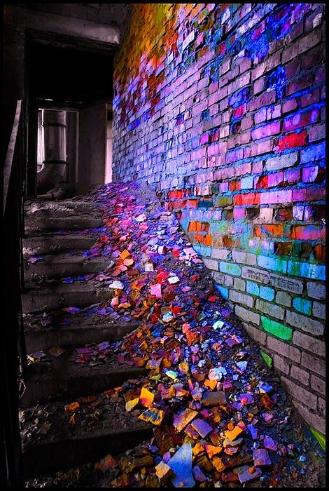 Brilliantly colorful debris.