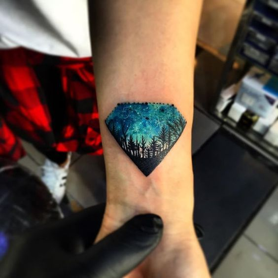 50 Breathtaking Diamond Tattoo Designs for Guys