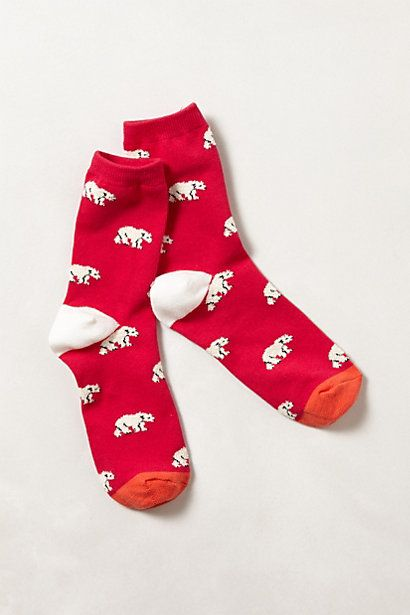 Polaire #socks #anthropologie, it'd be perfect for #christmas...