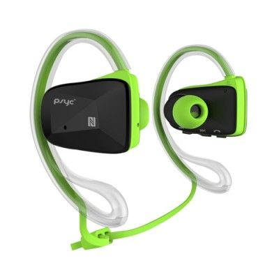 Psyc Elise SX Green Bluetooth Wireless Sport Earphones. Water Proof - Designed to withstand the most intensive workout conditions. So go ahead, move, sweat and rock hard.