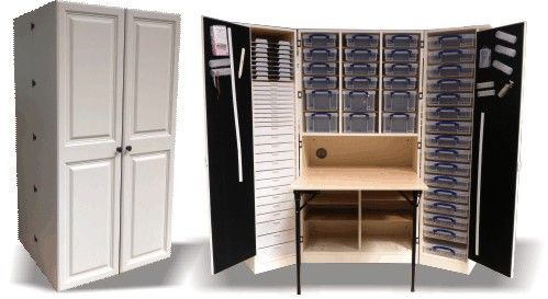 Arnold 39 S Scrapbook And Craft Supplies The Fold Away Wow Great Storage And Craft Workspace
