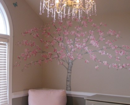 Cherry blossom baby nursery- LOOOOVVVEEEE this tree!