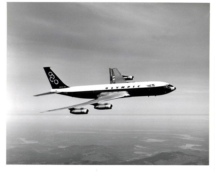 Olympic Airways Card postal Boeing B707-300