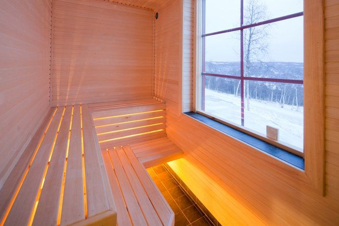 Sauna w/ window!  PERFECT!