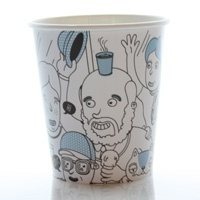 Vote for our new coffee cup design. This design is called Happy People by David Karlström. Vote for it at www.flysas.com/design