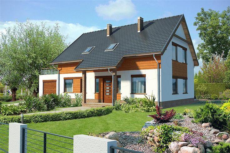 Hausgestaltung mit einem Dachboden Hamburg III LMP07b mit einer Fläche 165,65 m2 mit 1-stöckiger Garage, …