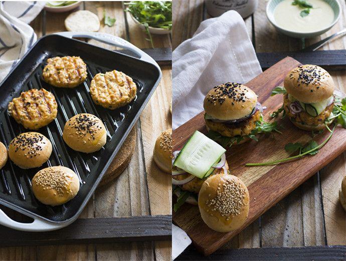 Receta de hamburguesas de salmón
