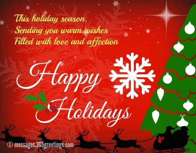 holiday message to clients