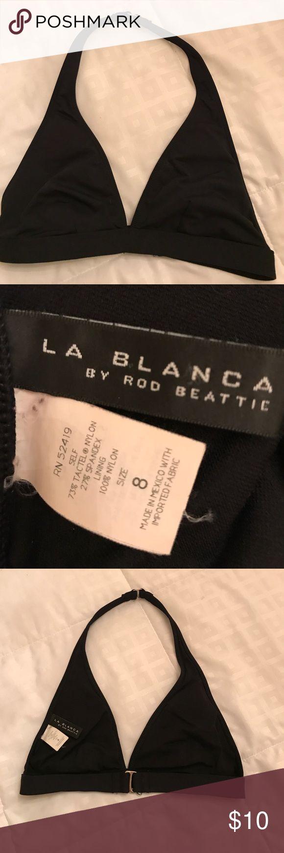 La Blanca black swim top Black La Blanca bikini top size 8 . Removeable padded cups La Blanca Swim Bikinis