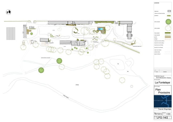 a provisional masterplan for a six acre sited