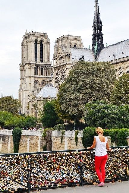 """""""love locks"""" on the Archeveche Bridge in Paris. The bridge links the 4th Arrondissement, at the Île de la Cité, to the 5th Arrondissement, between the quai de Montebello and the quai de la Tournelle. After the Pont des Arts was cleared of its display of padlocks in 2010, and similarly the Passerelle Léopold-Sédar-Senghor, lovers started to place their 'love padlocks' on this bridge."""