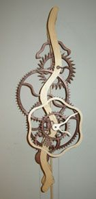 Pretty sweet wooden clock kits and plans, might need to build one of these with the kids.