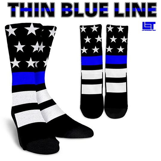 THIN BLUE LINE SOCKS   ➡shop.lawenforcementtoday.com/tbl-socks  SHARE with someone who'd LOVE these♥