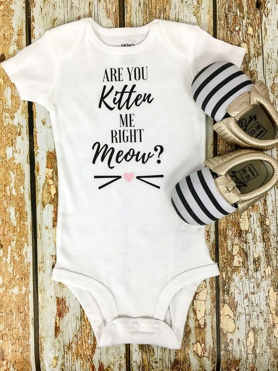 Are You Kitten Me Right Meow Onesie Girls Outfit Kitten Me Right Now Outfit Baby Girl Cat Onesie Girls Cat Shirt Baby Girl Clothes