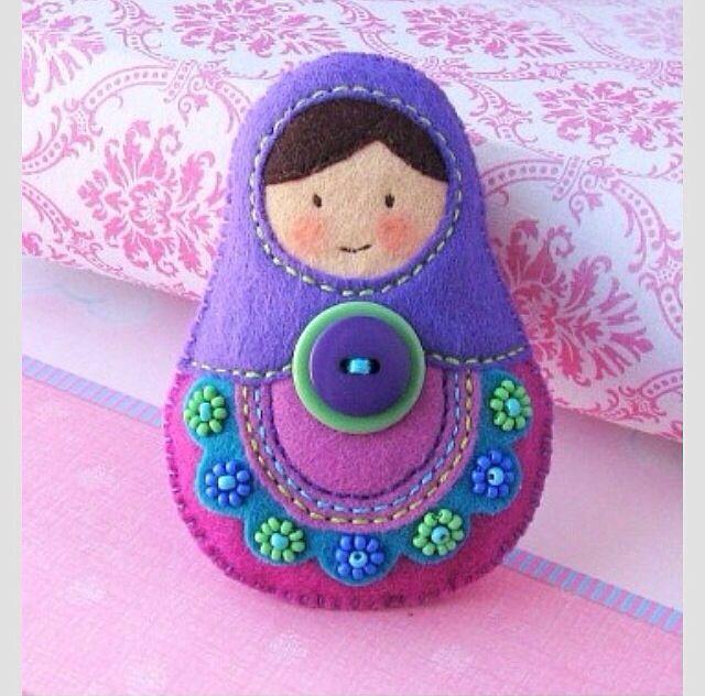 Felt Nesting Doll Figure