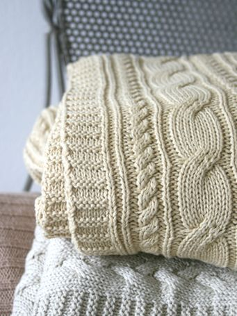 KHAKI CABLE KNIT BLANKET | SKY PARLOUR... I've been looking for a large knit blanket like these for forever