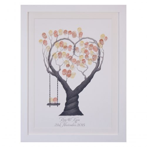 Heart Tree + swing in black & white.  Most designs have a black & white version available, this allows you more versatility with ink pad colours.