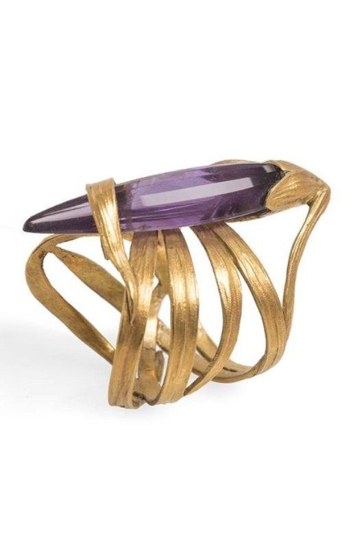 Georges de Ribaucourt-Art Nouveau amethyst ring