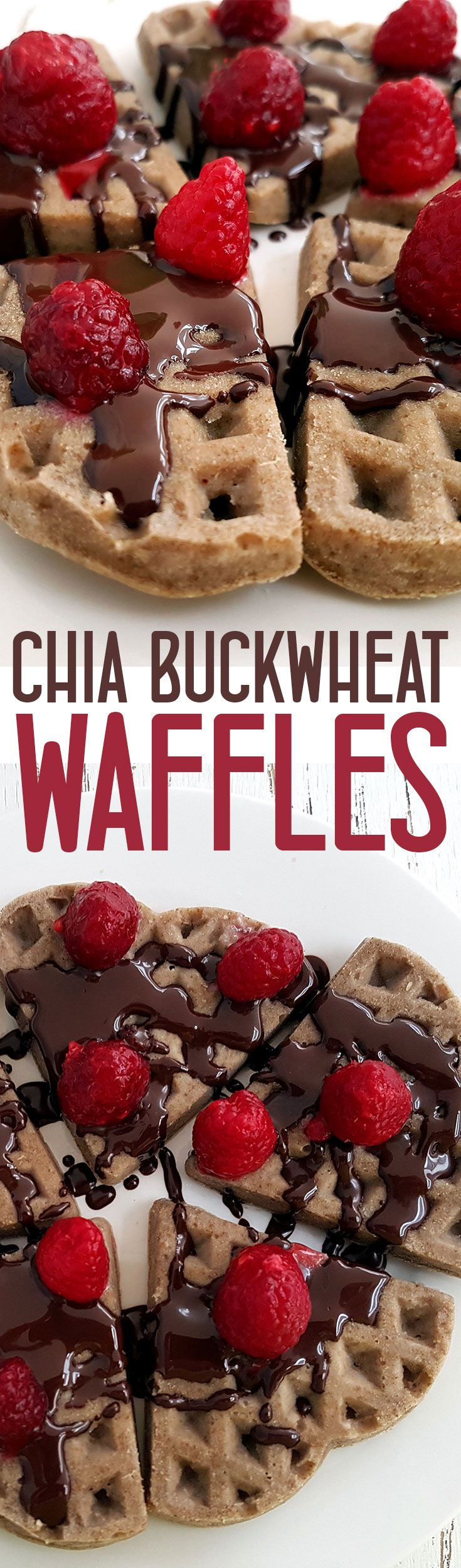 Chia Buckwheat Waffles with Berries and Chocolate - Vegan and gluten free via @nestandglow