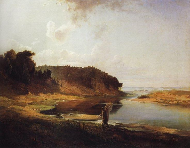 Rzeka i rybak 1859 - Aleksiej Sawrasow
