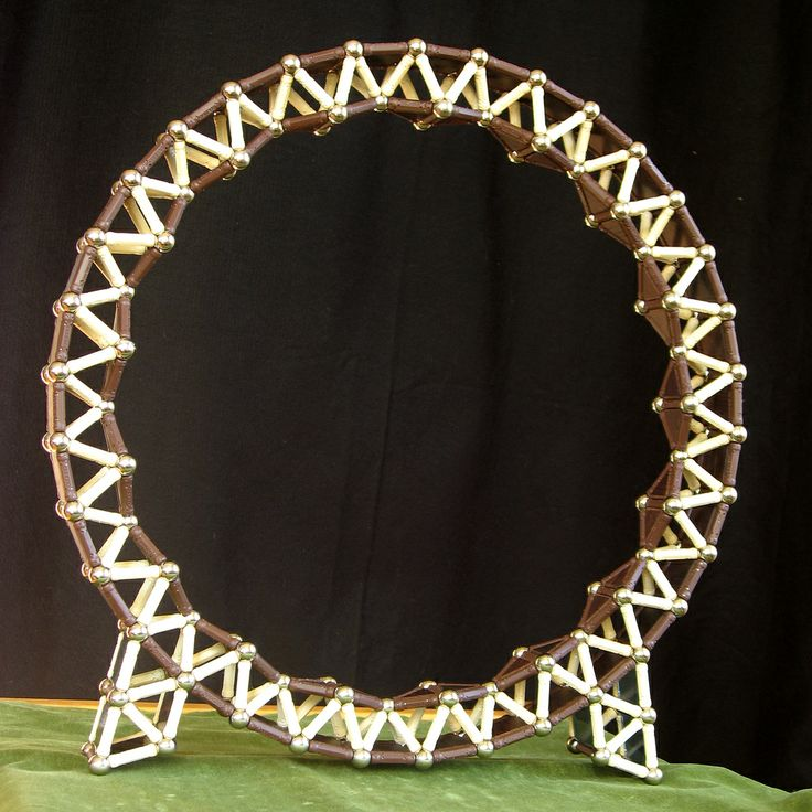 Geomag 34 sided ring in wood