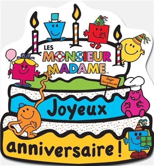 Un cahier d'activités en forme de gâteau pour fêter l'anniversaire des Monsieur…