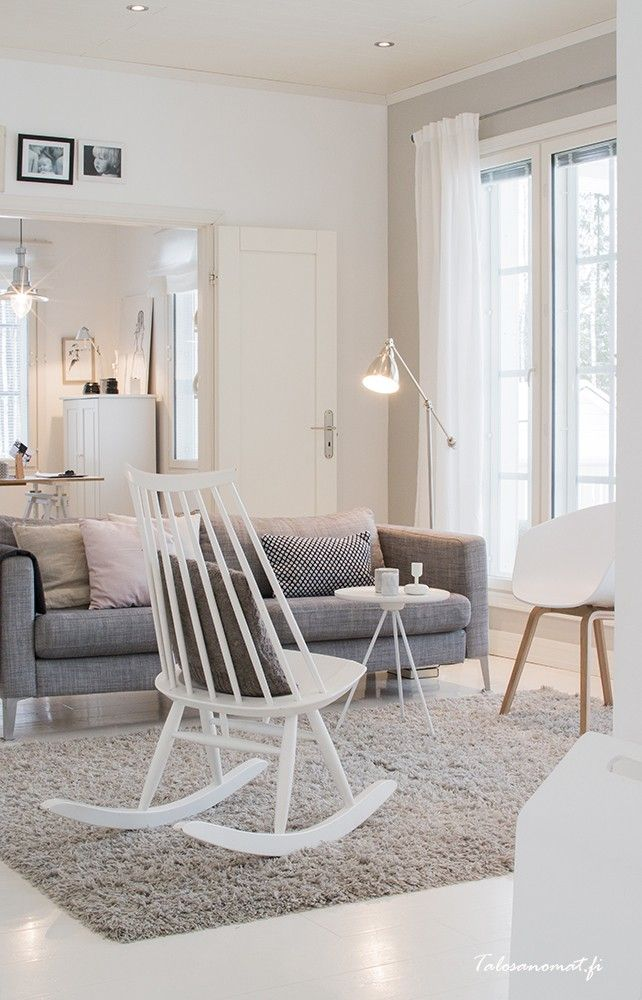 Key Side Table In A Beautiful White Livingroom