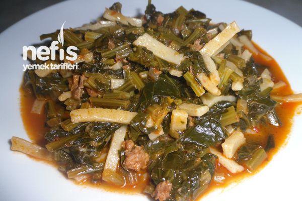 Erişteli Ispanak Yemeği